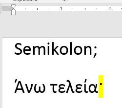 Griechisches Semikolon